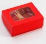 Коробка 100*80*35 подарочная Красный
