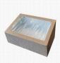 Коробка 200*200*40 Крафт с окошком