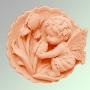 Ангелочек с цветком 2D №147