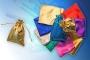 Мешочек подарочный золото 8 * 6 см