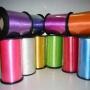 Лента полиэстер цветная перламутр металлический