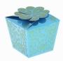 Коробка подарочная Цветок из сердец Голубой