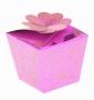 Коробка подарочная Цветок из сердец Розовый
