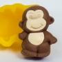 Силиконовая форма Милая обезьянка 2Д