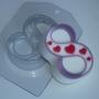 Пластиковая форма 8 Марта Сердечки диагональ ФМ