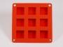 Квадрат мини силиконовая форма ПС (лист)