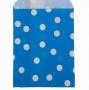 Пакет Голубой крафт Горох КР 10 * 15 см