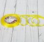 Лента атласная, 6мм, 23±1м, №15, цвет желтый
