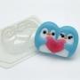 Пластиковая форма Пингвины парочка с сердцем ФМ