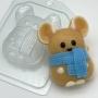 Пластиковая форма Мышь в шарфе ФМ
