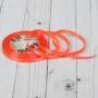 Лента атласная, 6мм, 23±1м, №145, цвет Неоново-розовый
