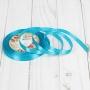 Лента атласная, 6 мм 23 ± 1 м, цвет Морская волна №47