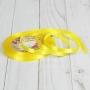 Лента атласная, 6 мм ? 23 ± 1 м, цвет Жёлтый №112