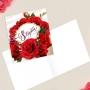 Открытка-мини С 8 марта, Розы