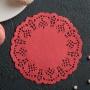Ажурная салфетка Д10 (100 шт.) Красный