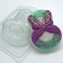 Пластиковая форма 8 марта бабочка ФМ