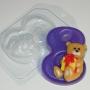 Пластиковая форма 8ка с мишкой ФМ