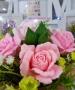 Силиконовая форма Тройник Бутоны роз №2