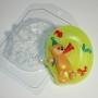 Пластиковая форма Цифры/0 с мишкой ФМ