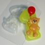 Пластиковая форма Цифры/1 с мишкой ФМ