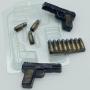 Пластиковая форма Пистолет ТТ мини ФМ